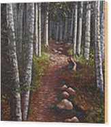 Quoddy Trail Close Crop Wood Print