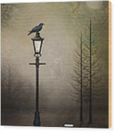 Quote The Raven Wood Print