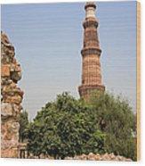 Qutub Minar Wood Print