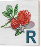 R Art Alphabet For Kids Room Wood Print