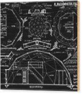 R. Buckminster Fuller Geodesic Dome Home Wood Print