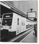 R2 Rodalies De Catalunya Train Speeding Through Passeig De Gracia Underground Main Line Train Statio Wood Print