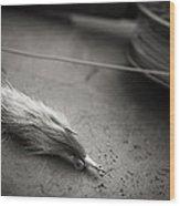 Rabbit Strip Fly Wood Print