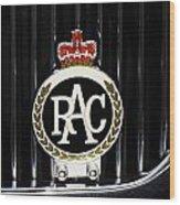 Royal Automobile Club Badge, Victoria Wood Print