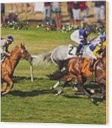 Race 6 - Del Mar Horse Race Wood Print