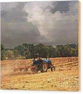 Race Against The Storm Wood Print