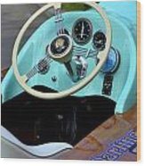 Race Boat Dash Wood Print