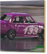 Race Car Wood Print