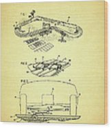 Race Car Track With Race Car Retaining Means Patent 1968 Wood Print