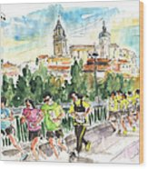 Race In Salamanca Wood Print
