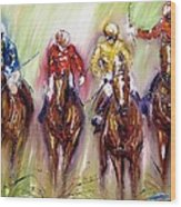 Irish Racehorses Available As A Signed And Numbered Print See Www.pixi-.com Wood Print