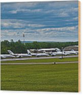 Race Week 2014 Pocono Airport  Wood Print