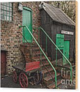 Racecourse Colliery  Wood Print by Adrian Evans