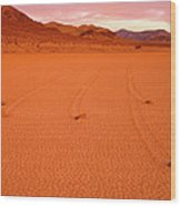 Racetrack Valley Death Valley National Park Wood Print