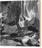 Rachel At Beartooth Falls Wood Print