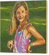 Rachel With Cookie Wood Print