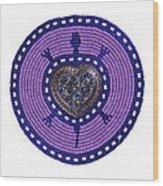 Purple Valentine 2011 Wood Print