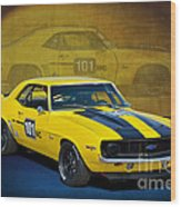 Racing Camaro Wood Print
