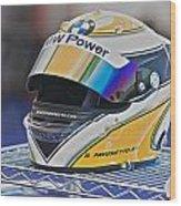 Racing Helmet 2 Wood Print