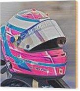 Racing Helmet 3 Wood Print