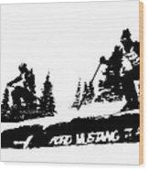 Racing Over The Ski Jump Wood Print