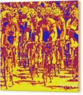 Racing Pelaton Wood Print