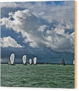 Racing Yachts In The Solent Wood Print