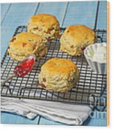 Rack Of Scones Wood Print