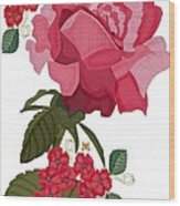 Rad Pink And Red Rose Wood Print