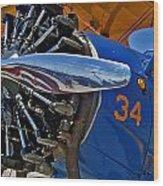Radial Engine Wood Print