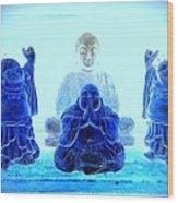 Radiant Buddhas Wood Print