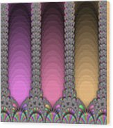 Radiant Columns Wood Print