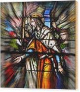 Radiant Jesus Wood Print