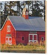 Radiant Red Barn Wood Print
