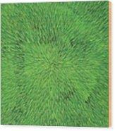 Radiation Green Wood Print