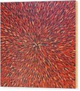 Radiation Red  Wood Print