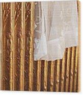 Radiator And Curtain Wood Print
