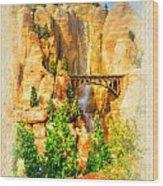 Radiator Springs Waterfall Wood Print