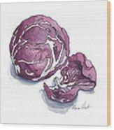 Refined Radicchio  Wood Print