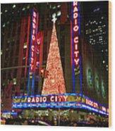 Radio City At Christmas Time - Holiday And Christmas Card Wood Print