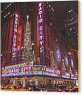 Radio City Music Hall Wood Print
