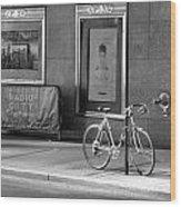 Radio City Music Hall In Black And White Wood Print