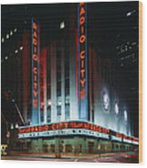 Radio City Music Hall In New York City Wood Print