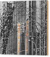 Radio City Music Hall Lights Wood Print