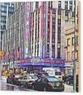 Radio City Music Hall New York City - 2 Wood Print