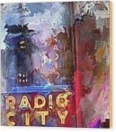 Radio City New York Wood Print