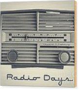 Radio Days Wood Print by Edward Fielding
