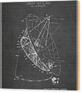 Radio Telescope Patent From 1968 - Charcoal Wood Print