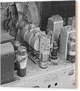 Radios Tubes Wood Print