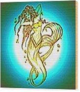 Radius Mermaid Wood Print